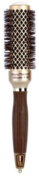 Olivia Garden Szczotka do włosów Nanothermic 34mm gold/brown