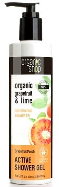 Organic Shop - Aktywny żel pod prysznic Grejpfrutowy Poncz 280 ml