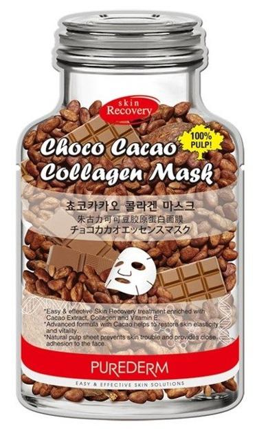 Purederm Maseczka czekoladowo-kolagenowa w płacie 1szt