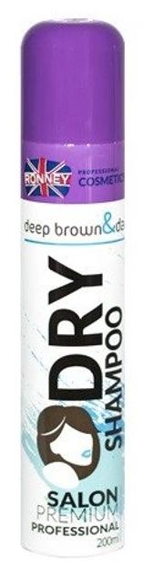 RONNEY Dry Shampoo Deep brown&dark Suchy szampon do włosów ciemnych i czarnych 200ml