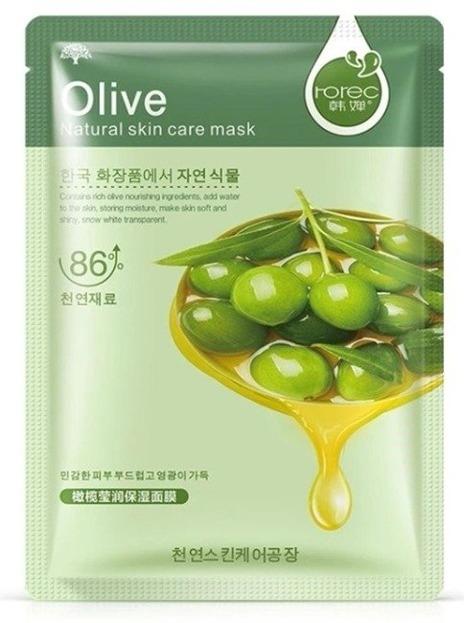 Rorec OliveMaseczka nawilżająca w płacie z ekstraktem z oliwek 30g