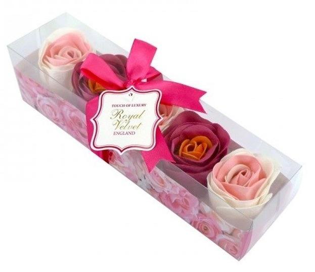 Royal Velvet Konfetti mydlane o zapachu różanym 5x16g