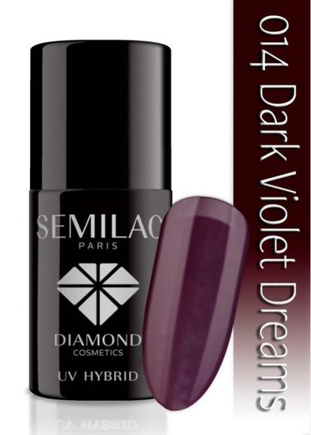 SEMILAC Hybrydowy Lakier Do Paznokci 7ml  -  014 Dark Violet Dreams