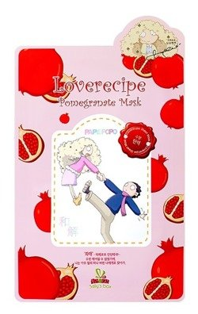Sallys Box Loverecipe Pomegranate Mask Celulozowa maska w płachcie 20ml