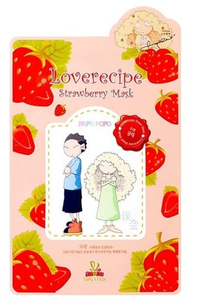 Sallys Box Loverecipe Strawberry Mask Celulozowa maska w płachcie 20ml