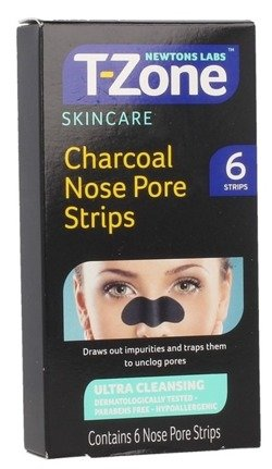 T-Zone Charcoal Nose Pore Strips Plastry na nos 6szt.