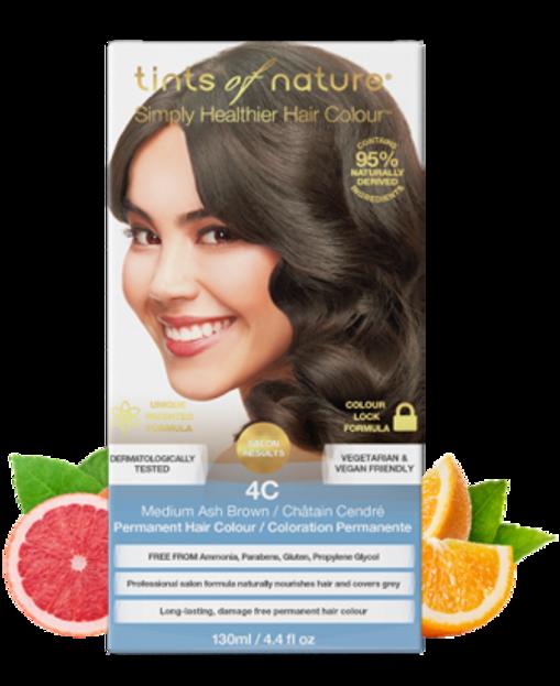 Tints of Nature Farba do włosów 4C Średni popielaty brąz
