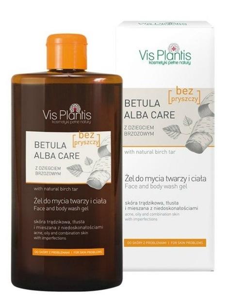 Vis Plantis Betula Alba Care Żel pod prysznic z naturalnym dziegciem brzozowym 300ml