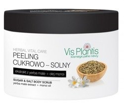 Vis Plantis Herbal Vital Care Peeling cukrowo-solny do ciała Ekstrakt z yerba mate 200ml