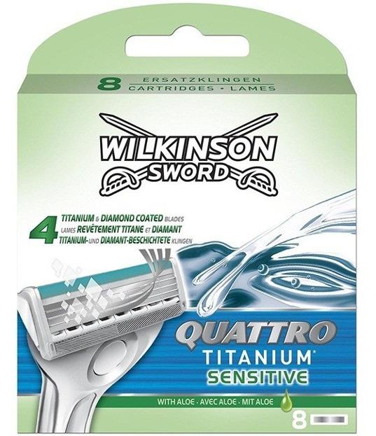 Wilkinson Quattro Titanum Sensitive Men Wkłady do maszynki 8 szt.