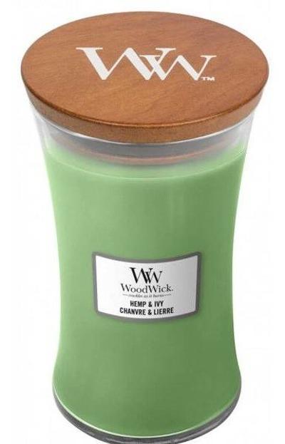 WoodWick świeca duża Hemp&Ivy 610g