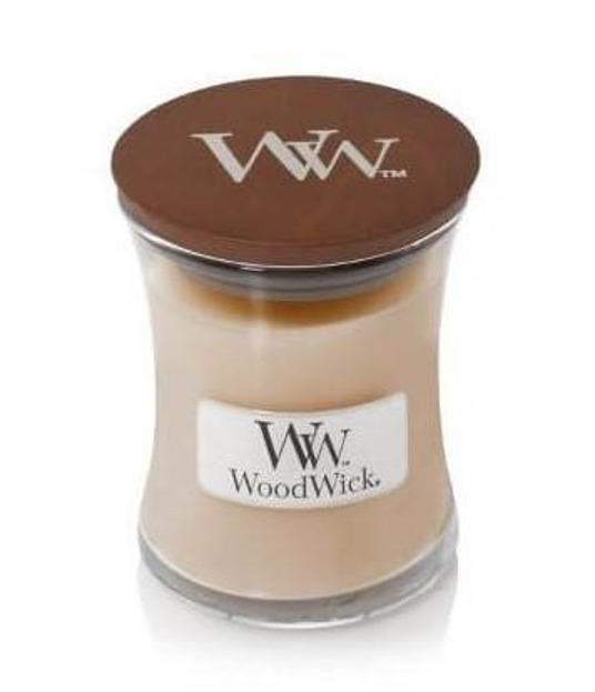 WoodWick świeca mała White Honey 85g