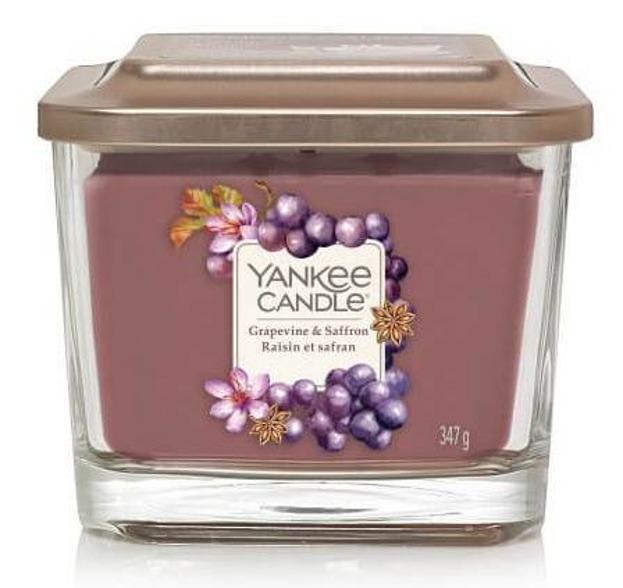 Yankee Candle Elevation świeca średnia Grapevine&Saffron 347g