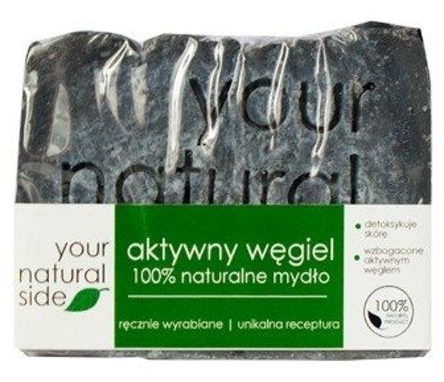 Your Natural Side Mydło aktywny Węgiel Glinka 100% 100g