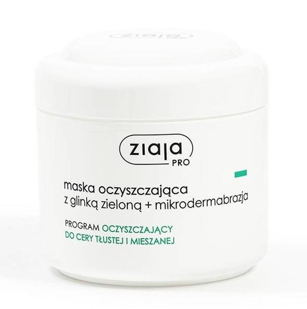 Ziaja Pro- Maska oczyszczająca z glinką zieloną + mikrodermabrazja - 250 ml